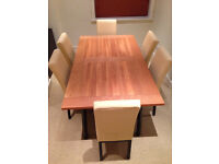 John Lewis Dining Table and Six Matching Dining Chairs Set