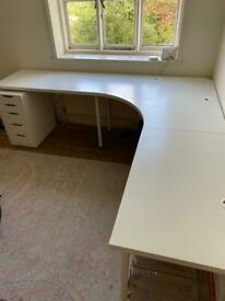 IKEA Desk and Drawers Bundle
