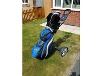 Golf clubs bag and trolley for sale