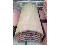 Redland Farmhouse Red concrete ridge tiles