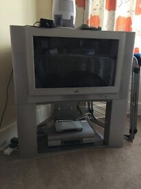 "28"" JVC TV and DVD player"