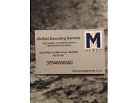 MIDFIELD DECORATING SERVICES AVAILABLE PAINTER DECORATER