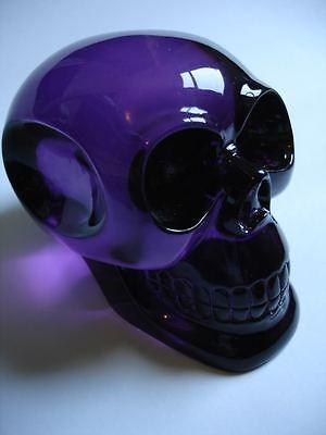 Big purple crystal skull human head cranium shift knob Hot Rod project shifter
