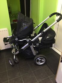 Icandy twin Pram