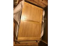 Solid oak dining table 120x80 extends to 160x80