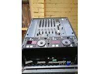 Allen & Heath Xone 62 Mixer in flightcase with Denon 6000 CD machine