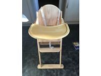 Mothercare wooden highchair / step seat