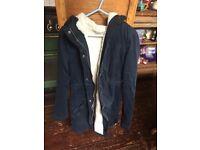 Hollister Faux Fur Winter Jacket - Blue