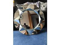 Never used geometric round mirror RRP £50