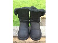 Genuine Black UGG Boots Uk6 W8