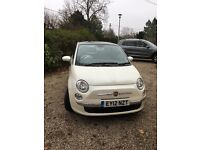 For Sale pearlescent white Fiat 500
