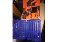 Electric screwdriver and 100 screwdriver bits