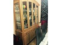 Glass wood living dining room unit cabinet for sale