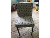 Kids toddlers chair cat print