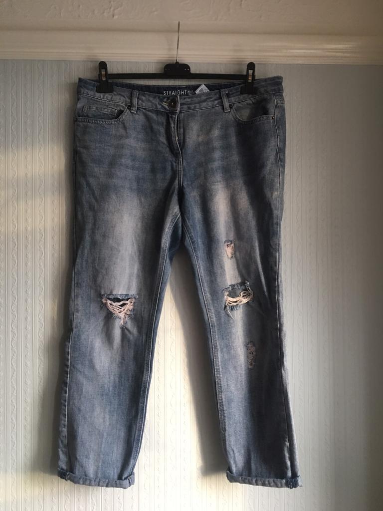 Ladies straight leg jeans
