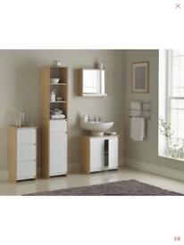Bathroom - Tall Storage Cabinet - Bathroom Cabinet -