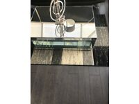 laminate flooring black perspective 950 4 sides groves ,excellent condition 35m2 cost £100
