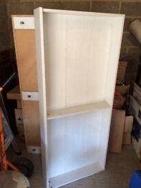 2x underbed wooden storage boxes - white
