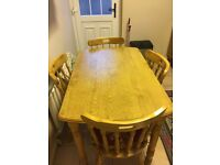 Table & 4 Chairs - £50