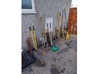 Garden tools joblot