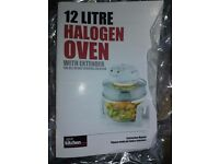 12 litre Your Kitchen Halogen Oven with extender ring/accessories BNIB