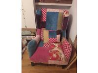 Multi coloured armchair excellent condition