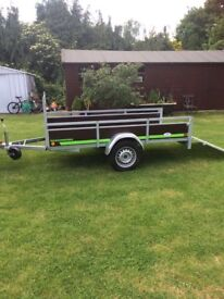 NEW 8FT X 4FT MULTI PURPOSE TRAILER INCLUDING EXTRA TAILBOARD