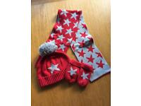 M&S hat, scarf and mittens set