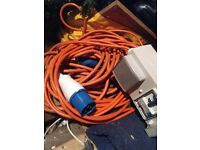 Reduced for quick sale - Bargain £25 - caravan electric hook up cables x 2