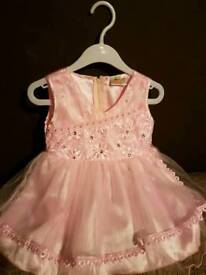 Pink flower girl/party dress