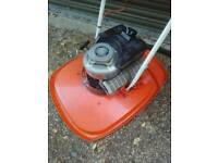 LARGE Petrol Flymo Hover Mower cuts slopes