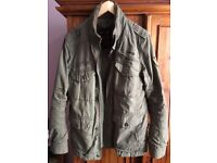 Schott M85 green military style jacket, men's size medium