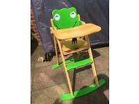 Good Condition High Chair made from Rubber Wood by John Crane