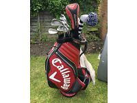 Call away tour bag with ping irons, Cleveland wedge & Taylor made 3 wood, rescue