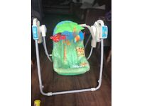 Fisher price baby swing good condition 5 different setting selling as my baby is big for swing