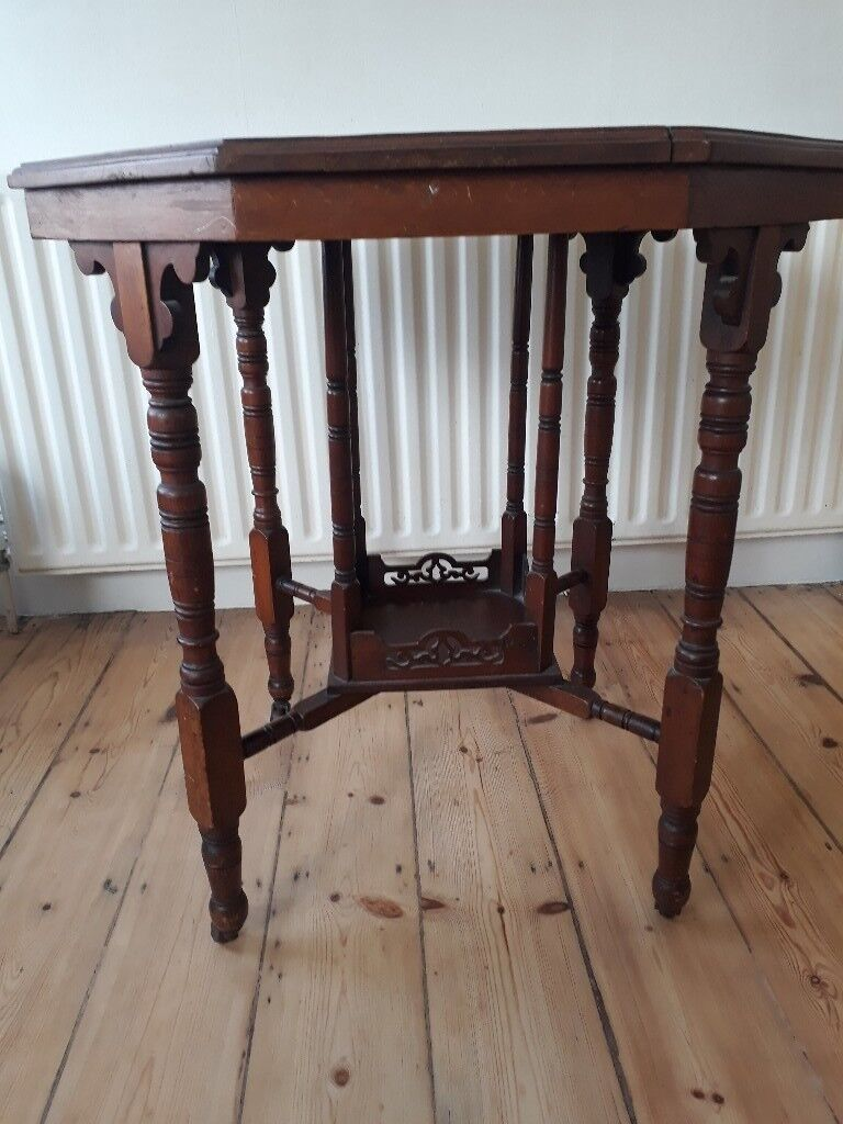 Furniture Antiques Charitable Victorian Octagonal Occasional Table