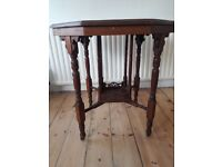 Victorian Two Tier Aesthetic Octagonal Antique Occasional Side Table
