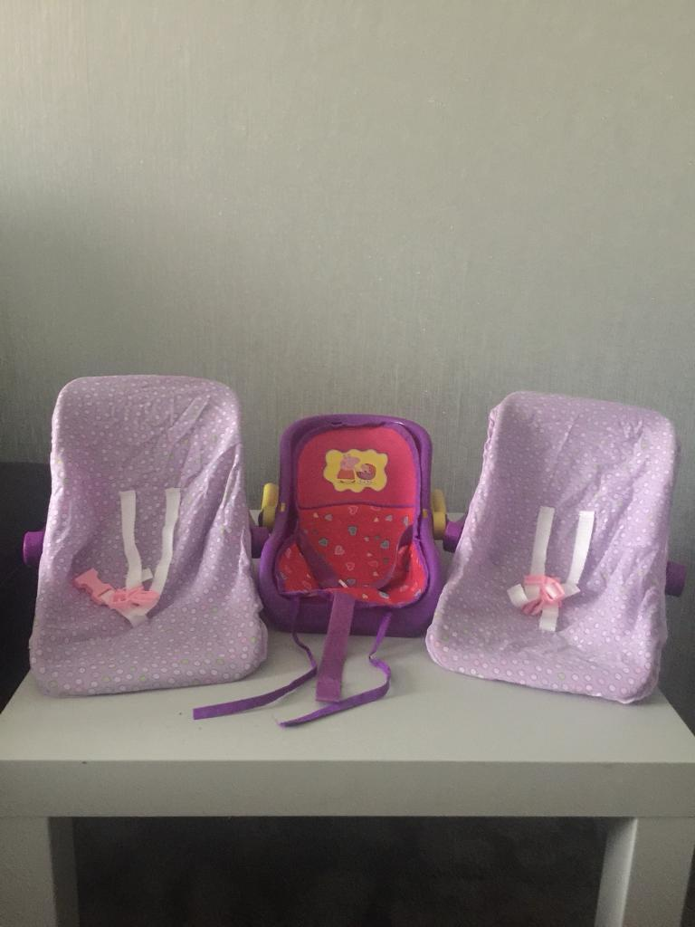 Toy baby car seats