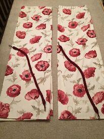 Laura Ashley Curtains & Contrast Tie Backs