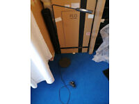 Black matt Famous Designer floor lamp Flo from Lumina