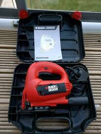 Black & Decker KS777 mukti-purpose jigsaw kitbox with different blades