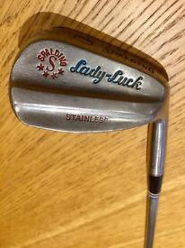 Vintage Spalding Lady Luck stainless steel golf clubs 4 6 7 9 irons