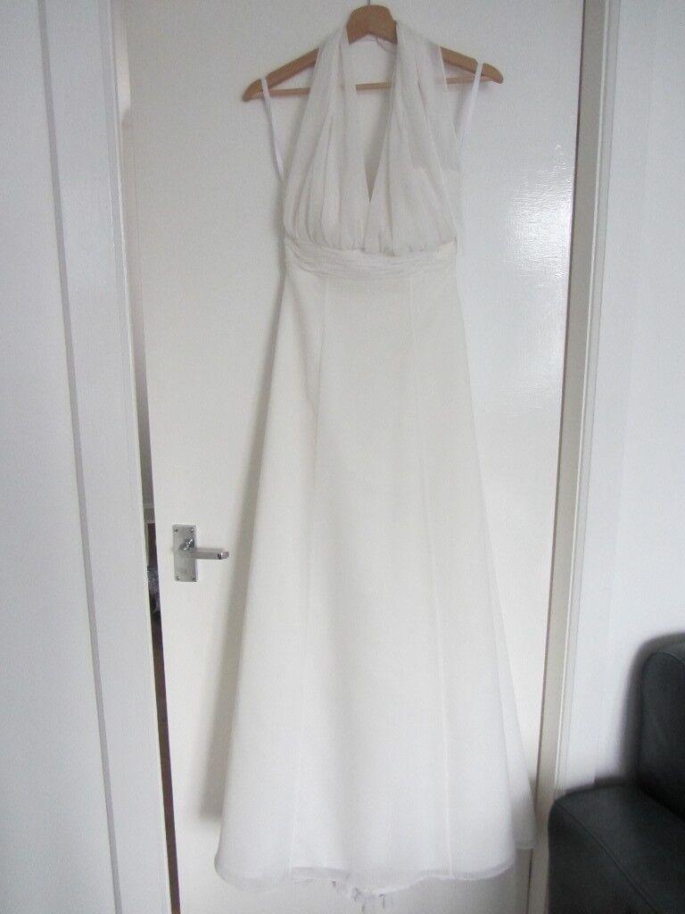Wed2b Heidi Hudson Size Uk 8 Clara Chiffon Wedding Dress Occasion Cruise