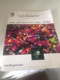 Events Management 2nd Edition textbook