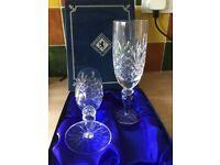 Edinburgh Crystal Champagne flutes.