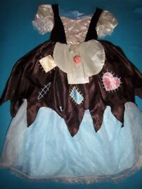 Reversible Cinders / Cinderella Dressing Up Dress Age 4-7 Years IP1