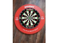 Winmau Blade 5 dartboard and surround