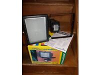 Outdoor security light with censor. new in box