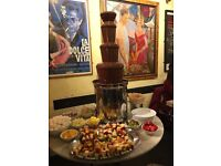 Commercial Chocolate Fountain cf2000 Giles & Posner sephra + led surround