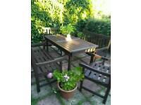 solid pine garden furniture